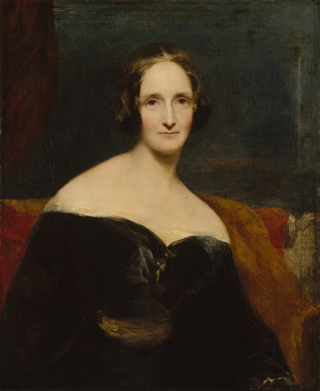A portrait of Mary Shelley