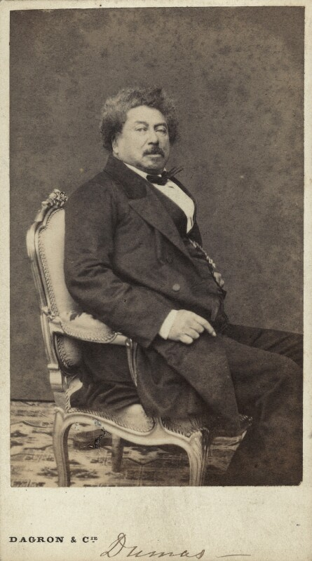 A portrait of Alexandre Dumas
