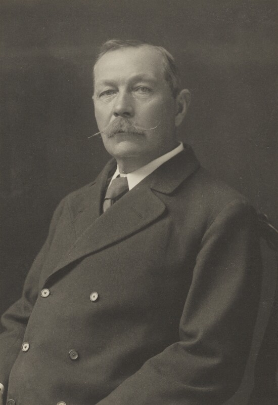 A portrait of Arthur Conan Doyle