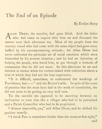 A sample page from The End of an Episode by Evelyn Sharp