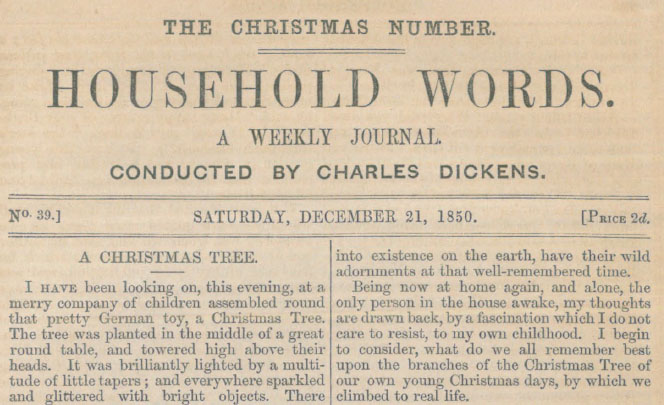 A sample page from A Christmas Tree by Charles Dickens