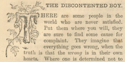 A sample page from The Discontented Boy by Anonymous