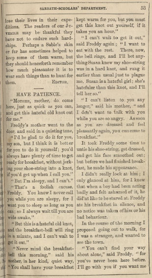 A sample page from Have Patience by Anonymous