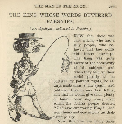 A sample page from The King Whose Words Buttered Parsnips by Anonymous
