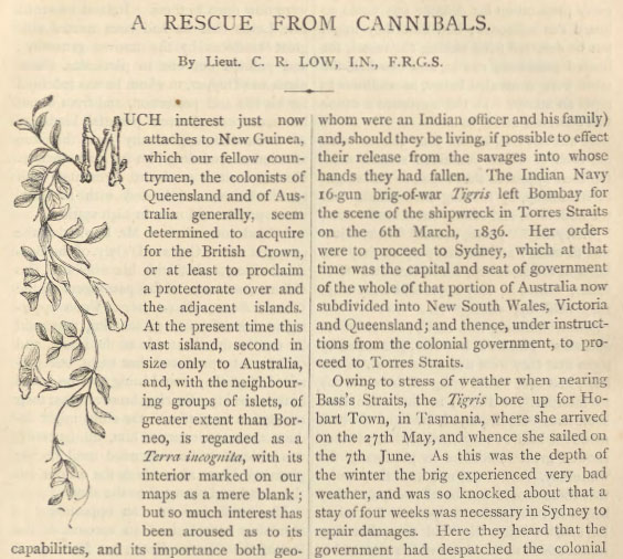 A sample page from A Rescue from Cannibals by Charles Rathbone Low