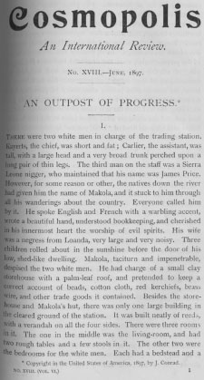 A sample page from An Outpost of Progress, Part 1 by Joseph Conrad