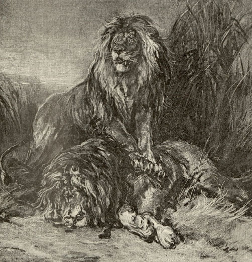 A sample page from A Tale of Three Lions, Chapter 2 by H. Rider Haggard
