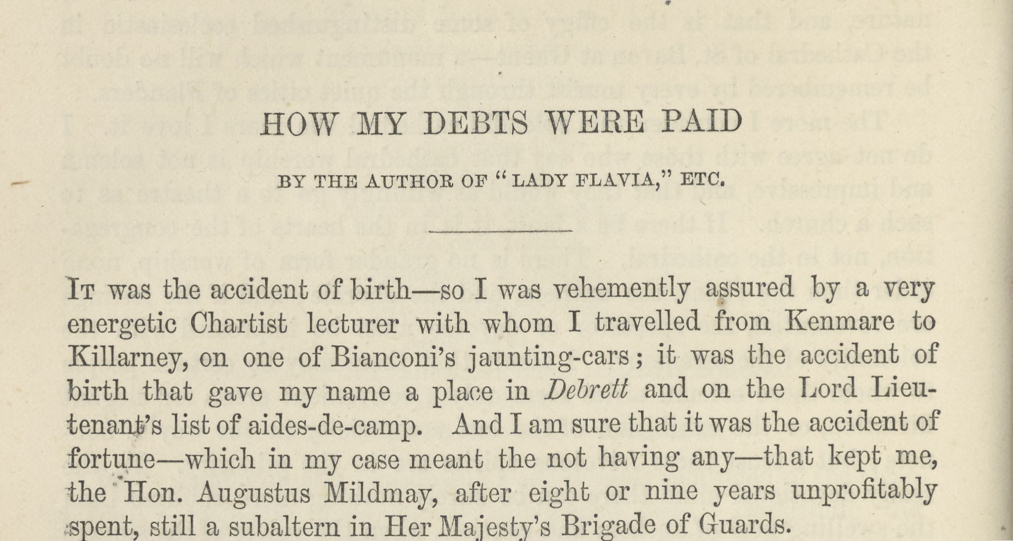 A sample page from How My Debts Were Paid by John Berwick Harwood