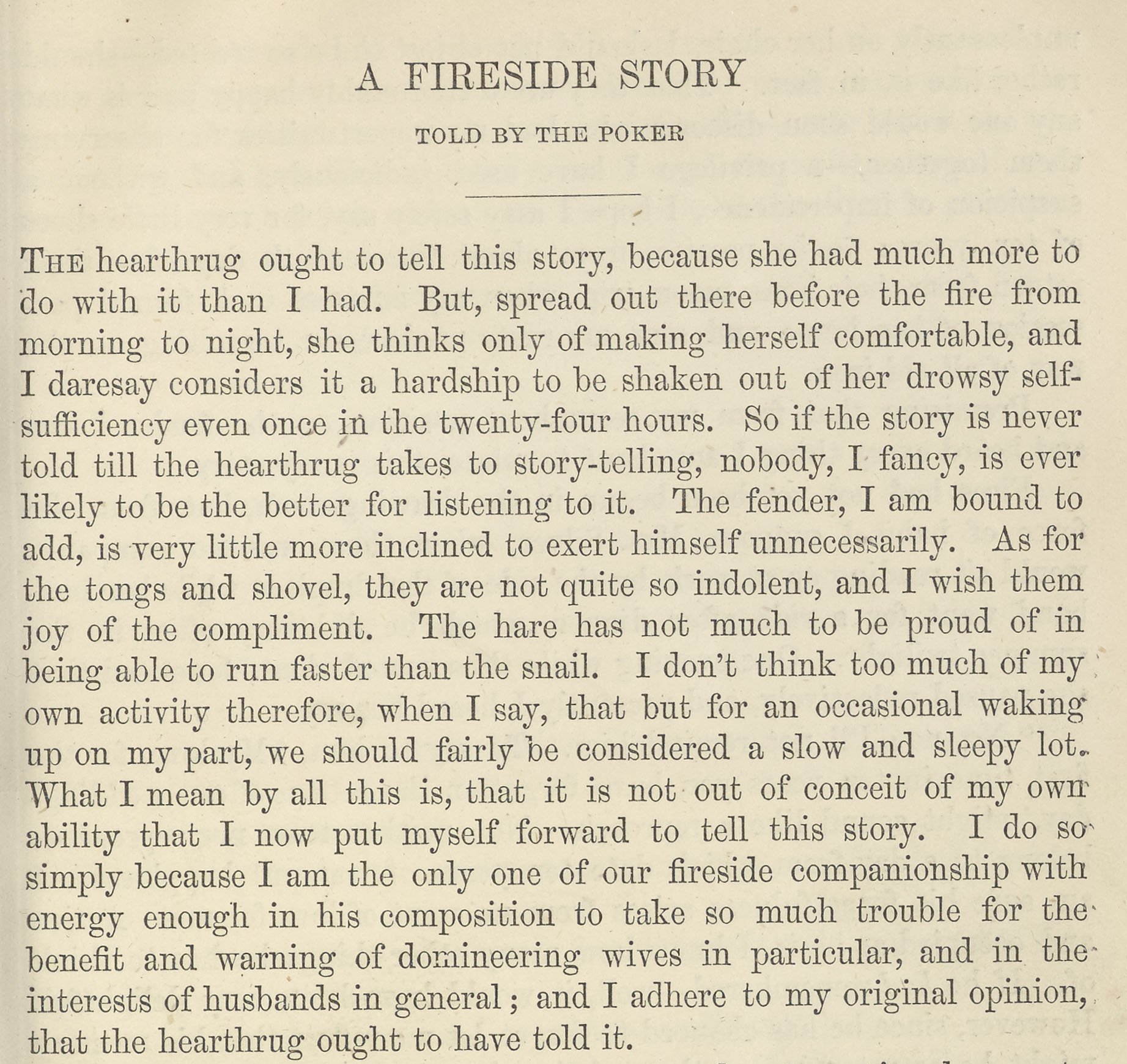 A sample page from A Fireside Story, Told by the Poker by Anonymous