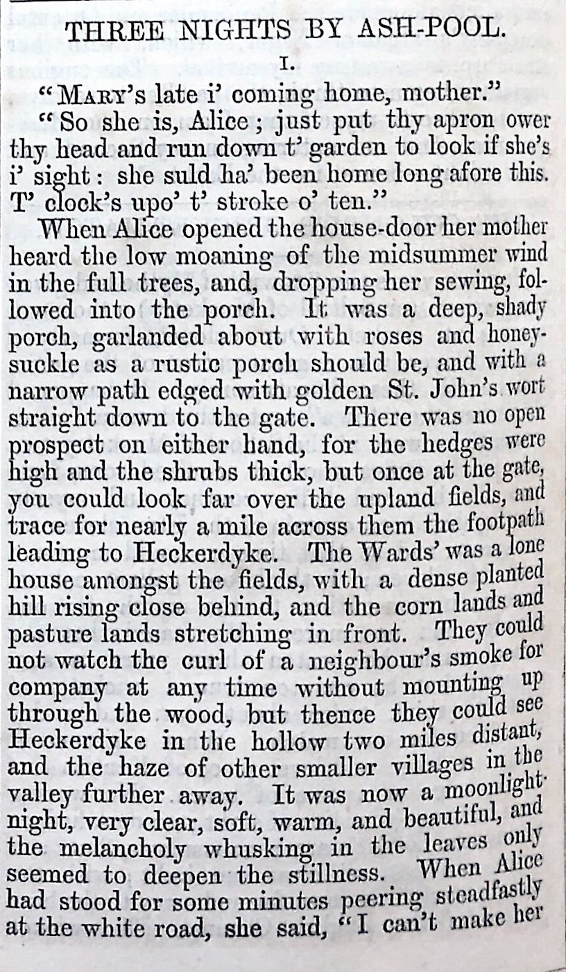 A sample page from Three Nights by Ash-Pool by Harriet Parr