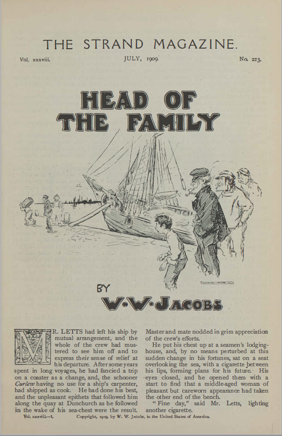 A sample page from Head of the Family by W.W. Jacobs