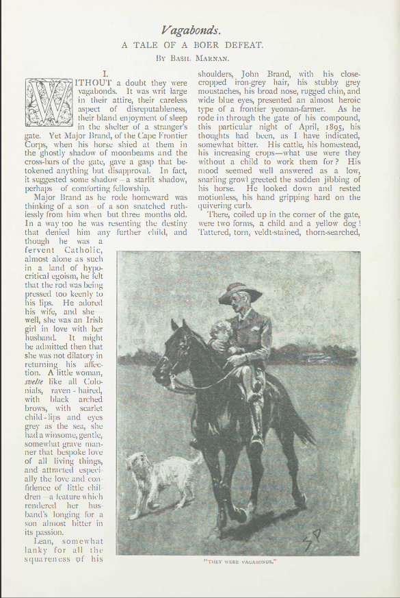 A sample page from Vagabonds: A Tale of Boer Defeat by Basil Marnan
