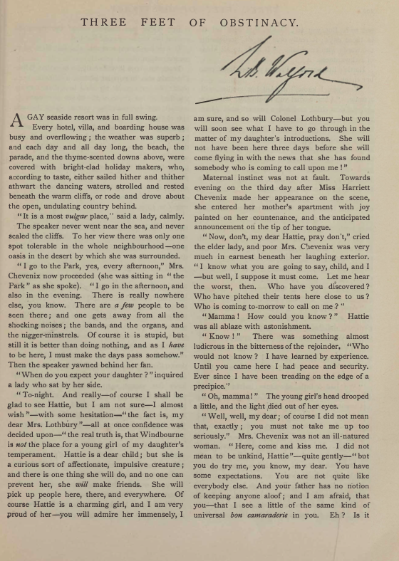 A sample page from Three Feet of Obstinacy by L. B. Walford