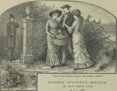 A sample page from Honoria Spencer's Mistake; or, Duty Versus Love, Part 2 by S. L. Gibbs