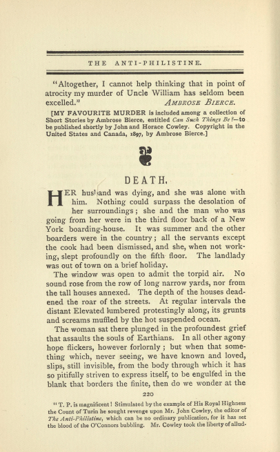 A sample page from Death by Gertrude Atherton