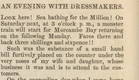 A sample page from An Evening with Dressmakers by Anonymous