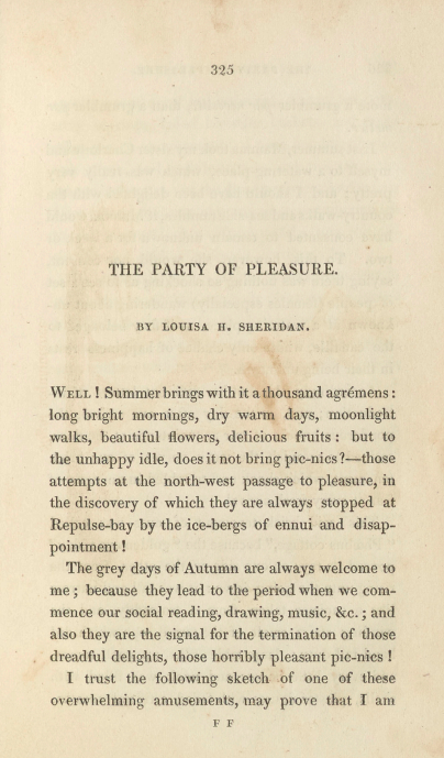 A sample page from The Party of Pleasure by Louisa H. Sheridan