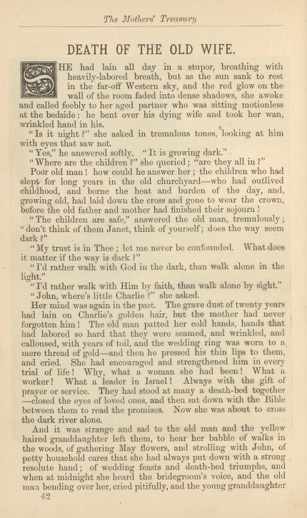 A sample page from Death of the Old Wife by Anonymous