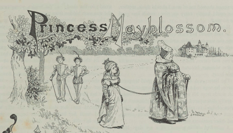 A sample page from Princess Mayblossom by Annette Lyster