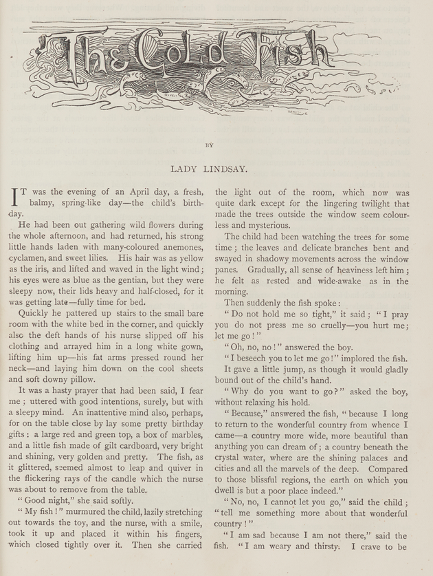 A sample page from The Gold Fish by Lady Lindsay