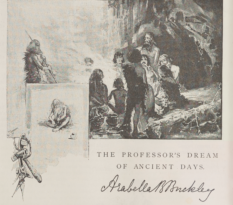 A sample page from The Professor's Dream of Ancient Days by Arabella B. Buckley