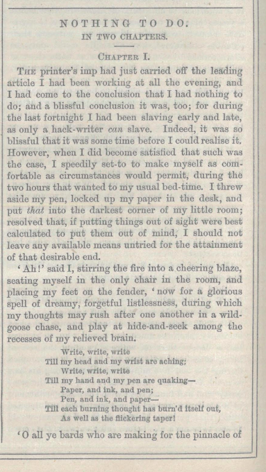 A sample page from Nothing to Do by Henry G. Hunt
