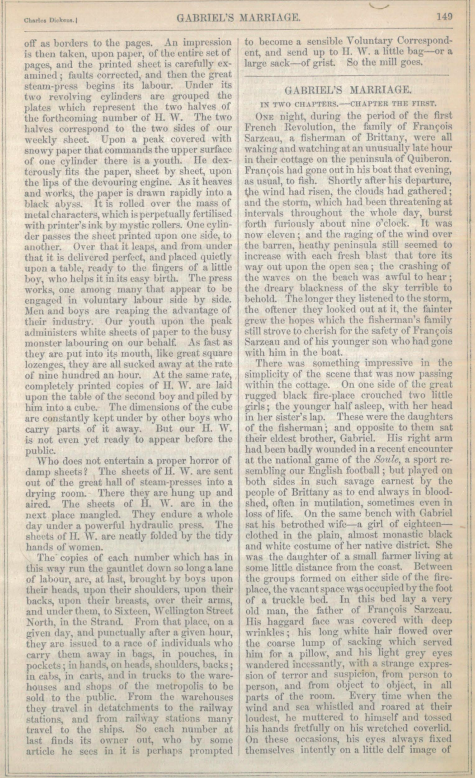 A sample page from Gabriel's Marriage, Part 2 by Wilkie Collins