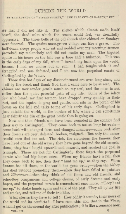 A sample page from Outside the World by Joseph Hatton