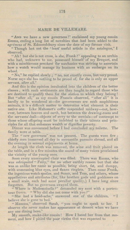 A sample page from Marie De Villemare by Anonymous