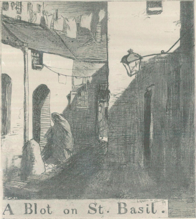 A sample page from A Blot on St. Basil by Arthur Morrison