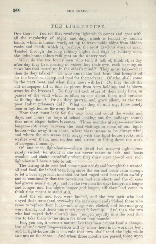 A sample page from The Light-House by Anonymous