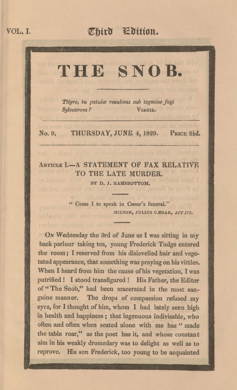 A sample page from A Statement of Fax Relative to the Late Murder by William Makepeace Thackeray