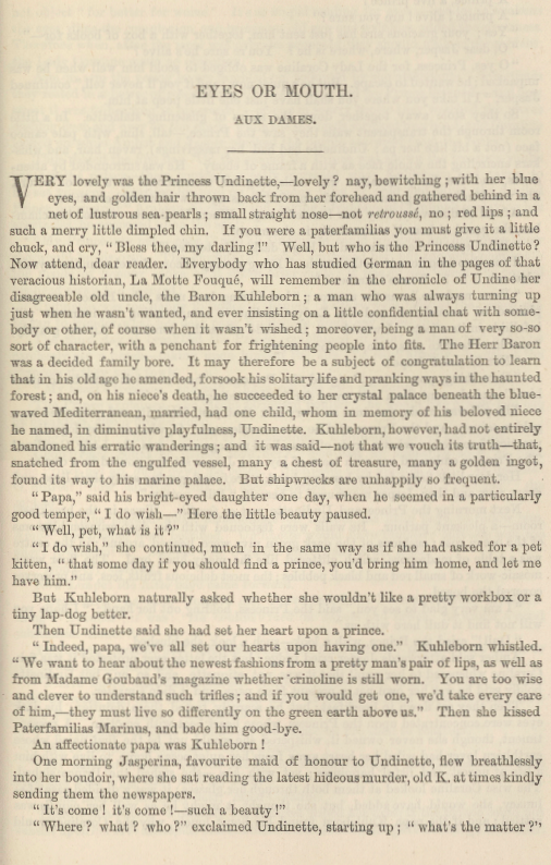 A sample page from Eyes or Mouth (Aux Dames) by Anonymous
