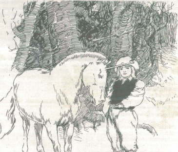 A sample page from The Unicorn, A Story for Children by