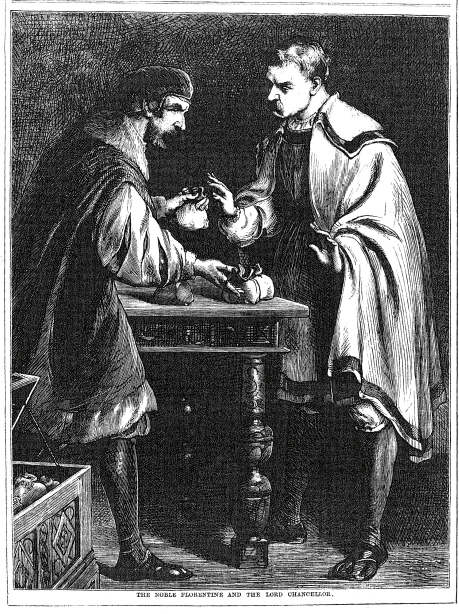 A sample page from The Noble Florentine and the Lord Chancellor by Anonymous
