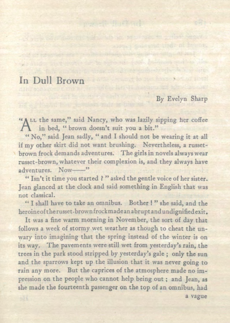 A sample page from In Dull Brown by Evelyn Sharp