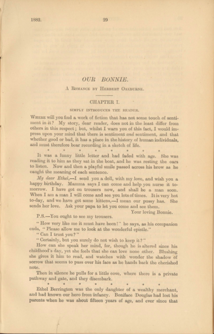 A sample page from Our Bonnie, Part 5 by Herbert Oakburne