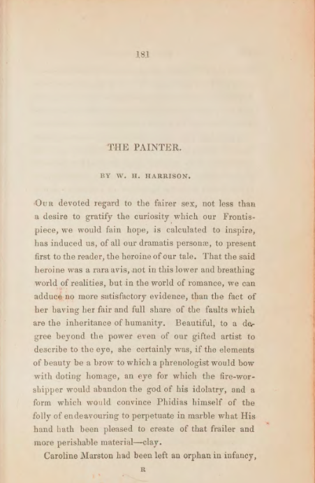 A sample page from The Painter by William Henry Harrison