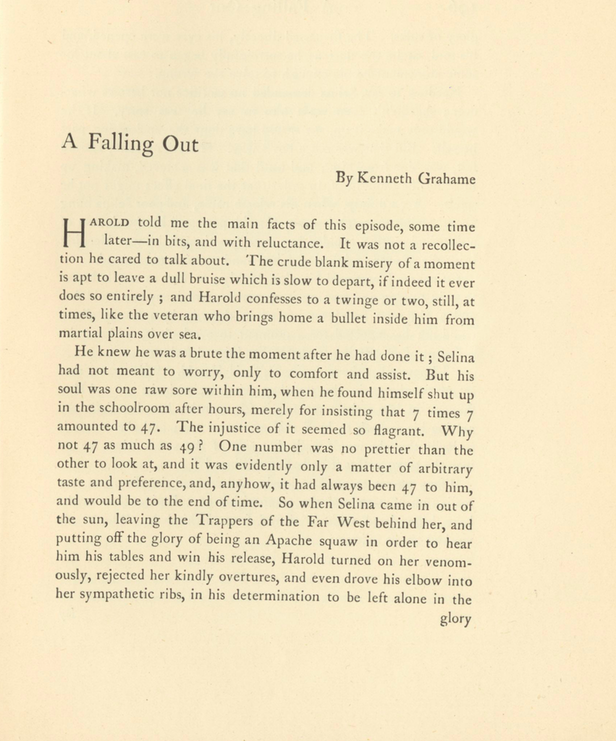 A sample page from A Falling Out by Kenneth Grahame