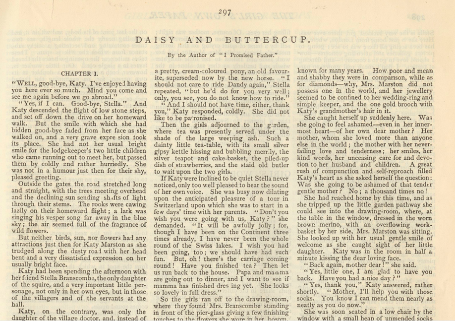 A sample page from Daisy and Buttercup, Part 2 by Mrs. J. F. B. Firth