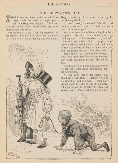A sample page from The Showman's Hat by Anonymous