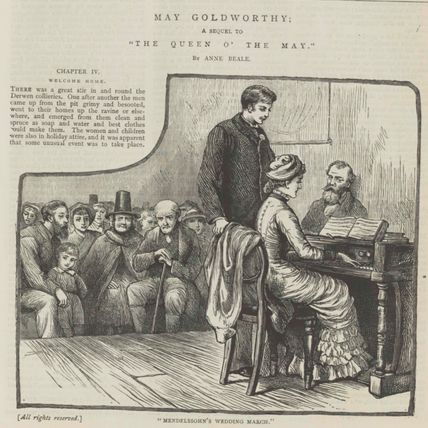 A sample page from May Goldworthy; A Sequel to 'Queen O' the May.' Part 4 by Anne Beale