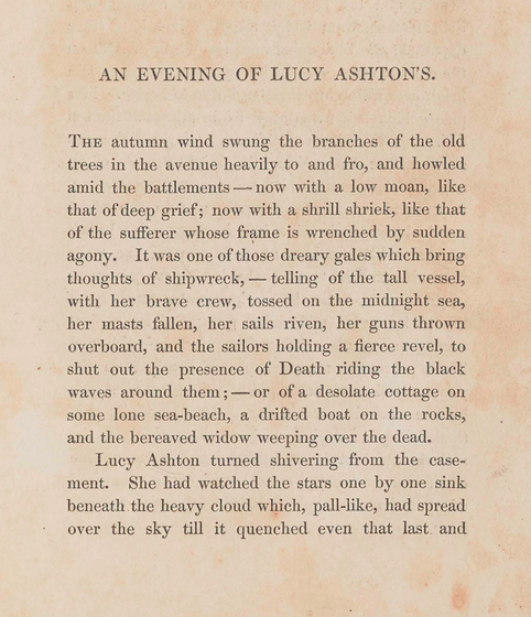 A sample page from An Evening of Lucy Ashton's by Letitia Landon